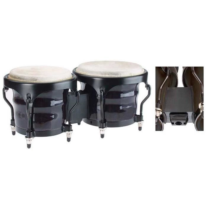 stagg bongos bois vernis 7 5 6 5 standard noir pas cher achat vente bongo cdiscount. Black Bedroom Furniture Sets. Home Design Ideas