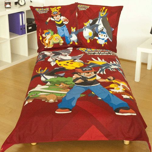 parure de lit pokemon rouge achat vente parure de drap cdiscount. Black Bedroom Furniture Sets. Home Design Ideas