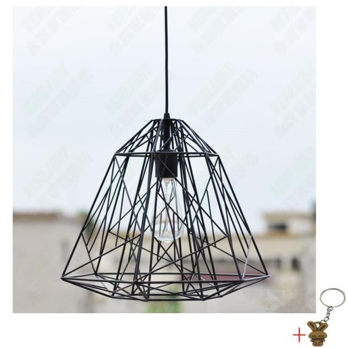Suspension luminaire noir scandinave achat vente for Lustre ou suspension