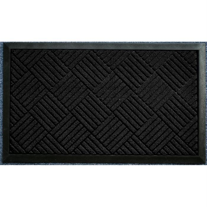 tapis d 39 entr e 45x75cm carreaux noir achat vente tapis d 39 entr e dessus 100 polypropyl ne. Black Bedroom Furniture Sets. Home Design Ideas