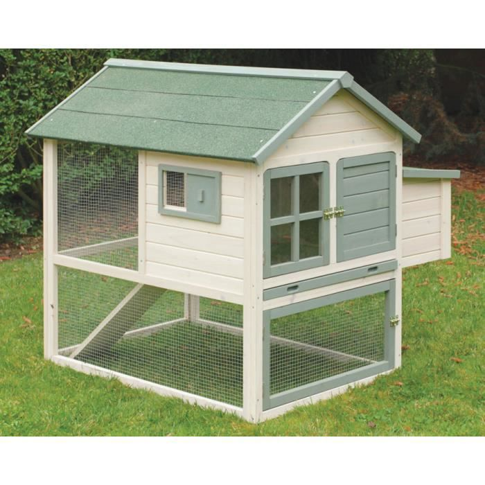 Ferme de beaumont poulailler azur gm 3 5 poules achat for Surface poulailler 2 poules