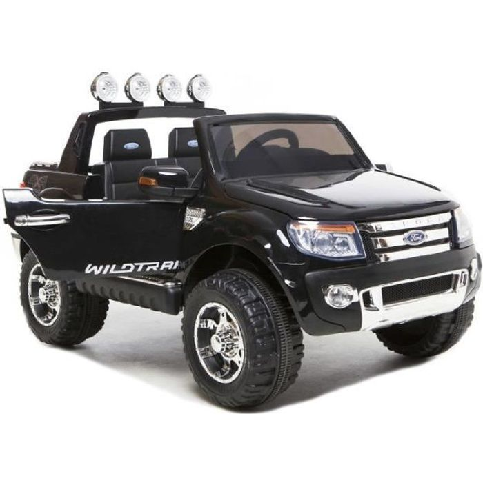 ford ranger noir avec peinture m tallis e voiture lectrique pour enfant 2 places 12v 2. Black Bedroom Furniture Sets. Home Design Ideas