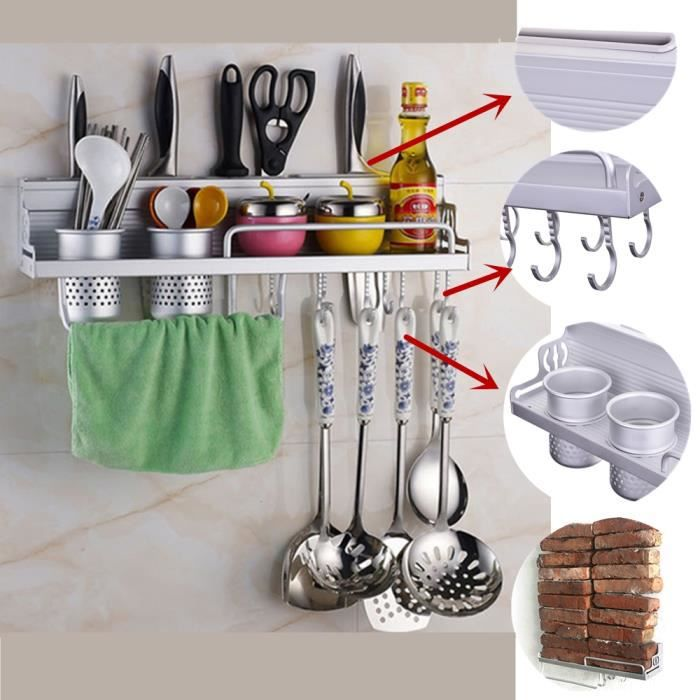 Support de cuisine cuisine tag re murale support tag re for Soldes materiel cuisine