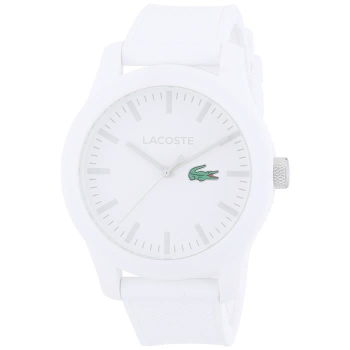 Lacoste White Hommes Montr…Achatvente L1212 Strap Silicone 0PX8nOwk