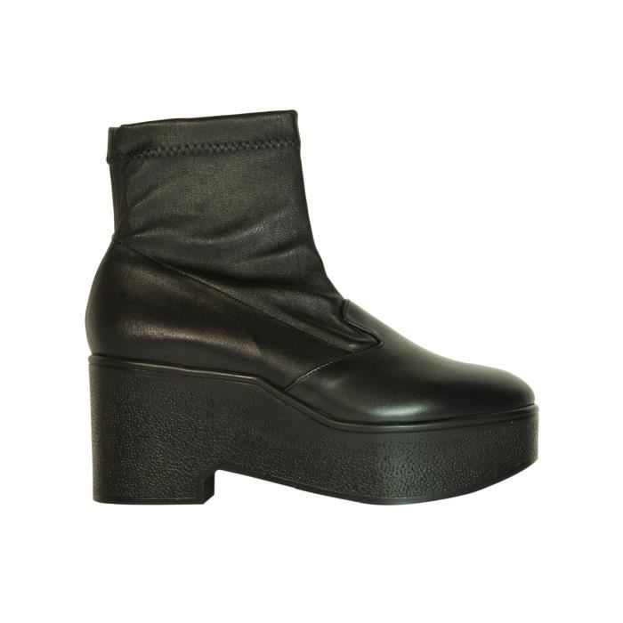 ROBERT CLERGERIE FEMME XUPNAVLISSESTRETCH NOIR CUIR BOTTINES LAhL2L0S