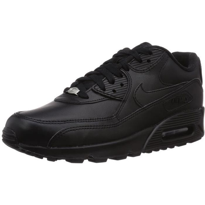for whole family exquisite design great quality Nike Air Max 90 Hommes Baskets en cuir 3PCEX4 Taille-39 1-2 Noir ...