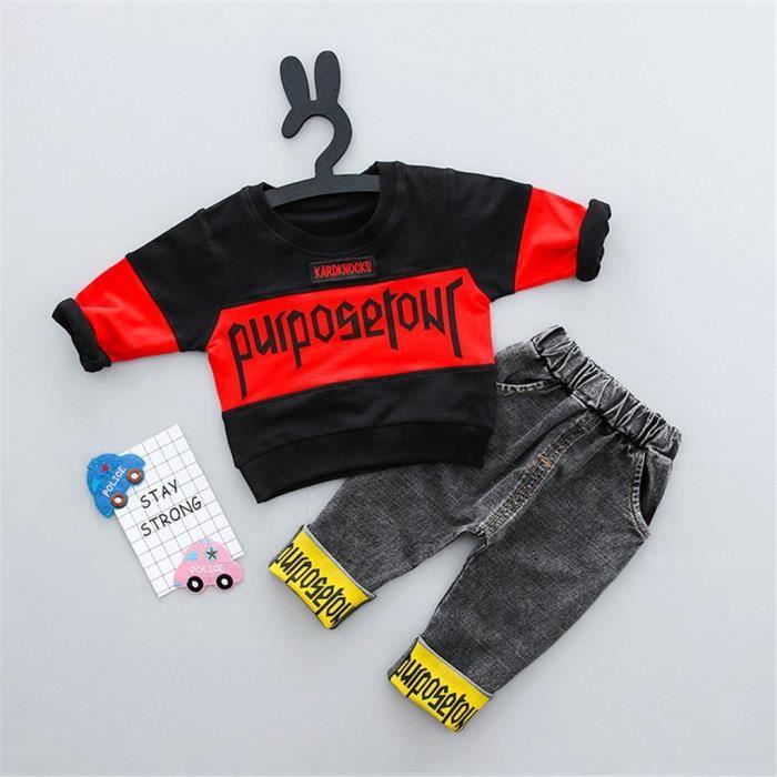 JEANS Tout-petits enfants Bébés garçons Streetwear T Hau