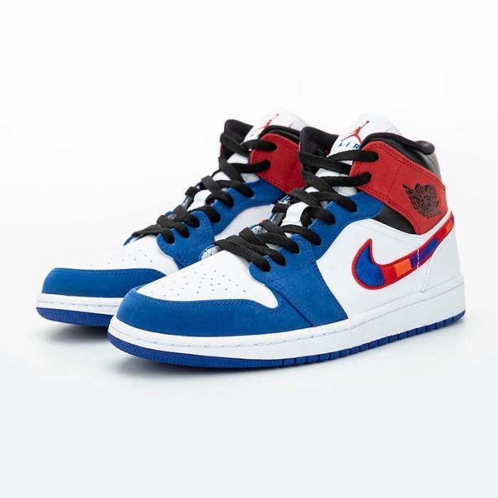 Air jordan 1 mid bleu et rouge - Cdiscount