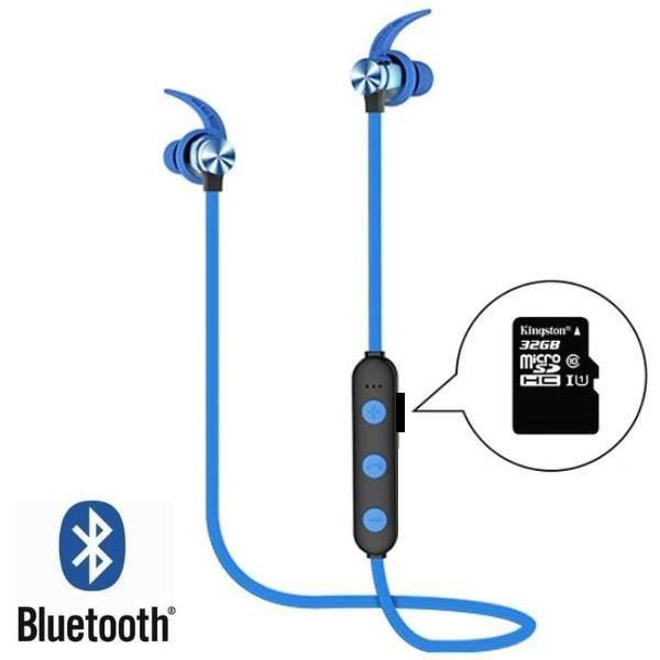 CASQUE - ÉCOUTEURS Écouteurs Bluetooth sans fil avec micro + Port Mic