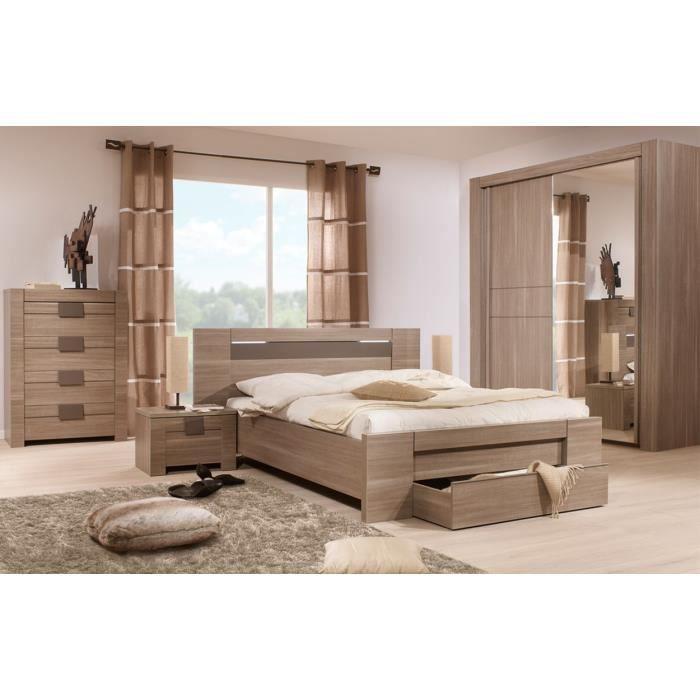 Chambre Adulte Complète (160*200) n°3 - MACAO - L 197 x l 208 x H 88 cm