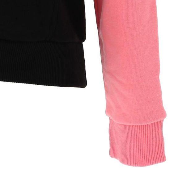 Sweat capuche hooded Lori hoodie roses noir Fila