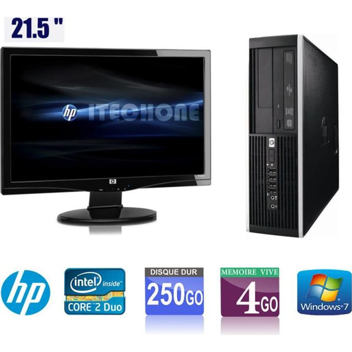 pc de bureau hp 6000 pro core 2 duo 3 00 ghz ram 4 go. Black Bedroom Furniture Sets. Home Design Ideas