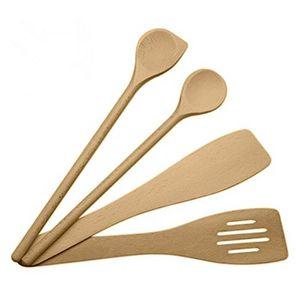 Dexam hêtre et bois d/'ACACIA ensemble 3 pièces Cuisson Ustensiles de Cuisine Boîte en bois