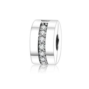 Charm's Charmes Clip - Argent 925 Luxueux Crystal Clip Cha