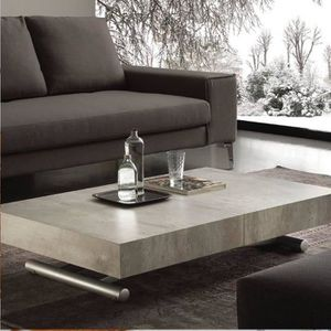 TABLE BASSE Table basse relevable extensible BLOCK design cime