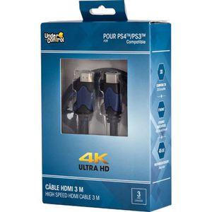CÂBLE JEUX VIDEO UNDER CONTROL Cable HDMI PS4 - 4K - 3M - Bleu / No