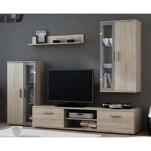 MEUBLE TV Ensemble meuble TV DARA - Couleur: Chene Clair - E