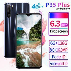SMARTPHONE Noir Version mondiale P35 Plug Android 9.1 Octa Co