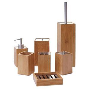 DISTRIBUTEUR DE SAVON Set de salle de bains, 7 pièces HWC-A90, accessoir