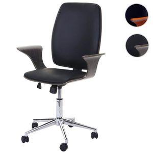CHAISE DE BUREAU Chaise de bureau HWC-C54, bois courbé, chaise pivo