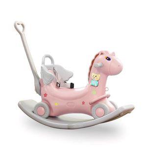 JOUET À BASCULE Baby Vivo 2in1 Cheval à Bascule Licorne à Bascule