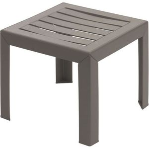 TABLE BASSE Table basse Miami 40x40cm taupe