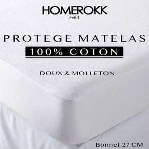 PROTÈGE MATELAS  HOMEROKK - Protège Matelas 160x200cm 100% Coton