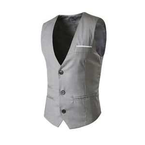 GILET DE COSTUME Hommes Gilet Slim Fit Costume manches Gilet Casual 02bfd1ab92a