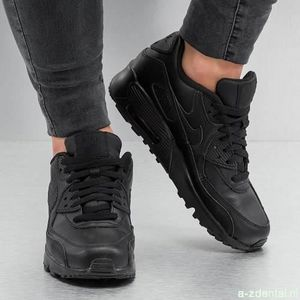 BASKET Baskets Nike Air Max 90 LTR (GS) noir 833412-001.