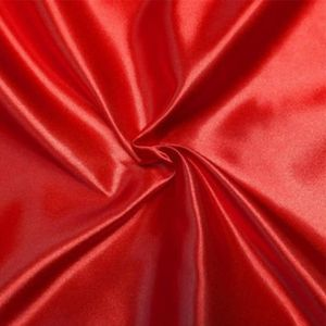 TISSU Satin doublure Rouge - Tissu au mètre - Quartier d