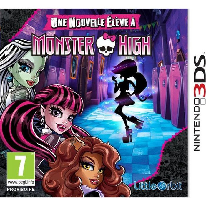 monster high une nouvelle el ve monster high jeu 3ds achat vente jeu 3ds monster high. Black Bedroom Furniture Sets. Home Design Ideas