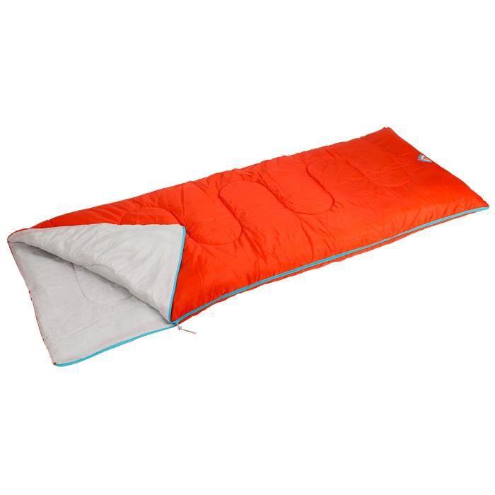 ABBEY CAMP Sac de couchage - En polyester 190T hydrofuge - Dimensions : 200 x 75 cm - Rouge