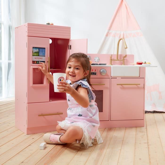 Teamson Kids - Cuisine enfant dînette machine à glace Urban Luxury Rose (2 pièces) TD-12302P