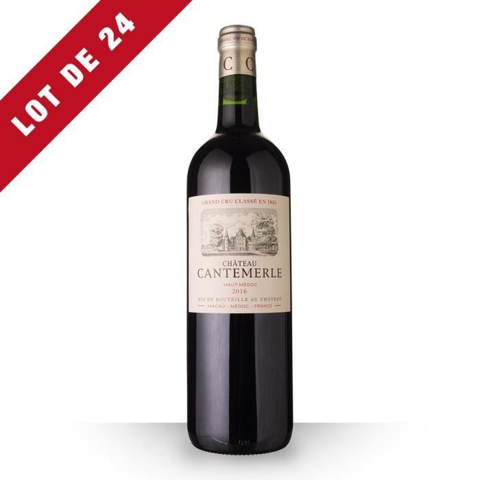 Lot de 24 - Château Cantemerle 2016 AOC Haut-Médoc - 24x75cl - Vin Rouge