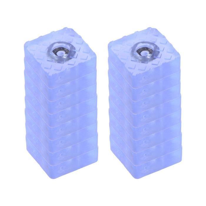 Coussinets de meubles carrés antidérapants durables en PVC pratique durable de 16 pièces pour canapé de table de PIED DE MEUBLE