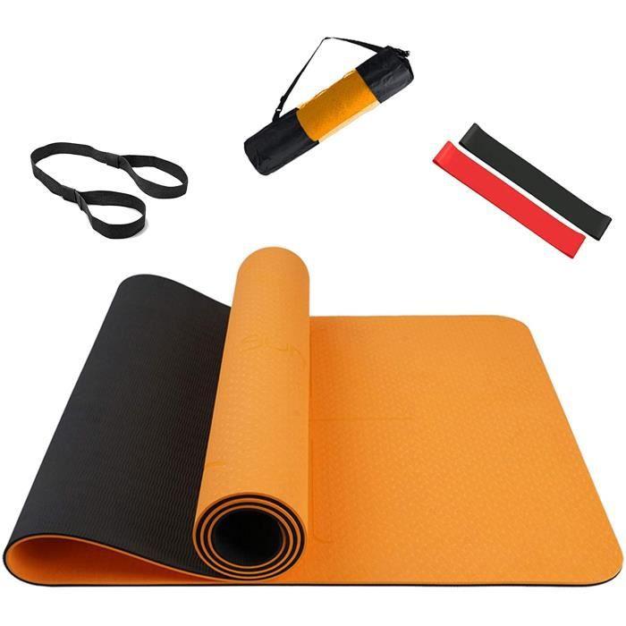 Summer Mae Tapis de Yoga de Gymnastique Mat Fitness Exercise Deux-Tons Antidérapant Tapis 183 x 61 x 0,6 cm