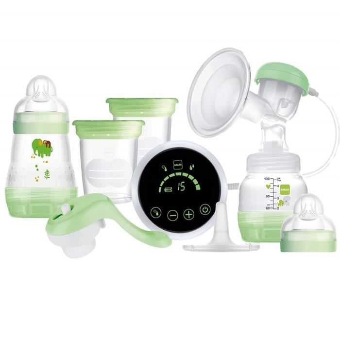 MAM 2-in-1 Single Breast Pump (Electric and Manual Use), Green