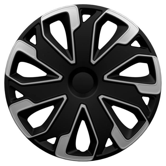 AutoStyle enjoliveurs Ultimo15 pouces ABS noir/argent jeu de 4