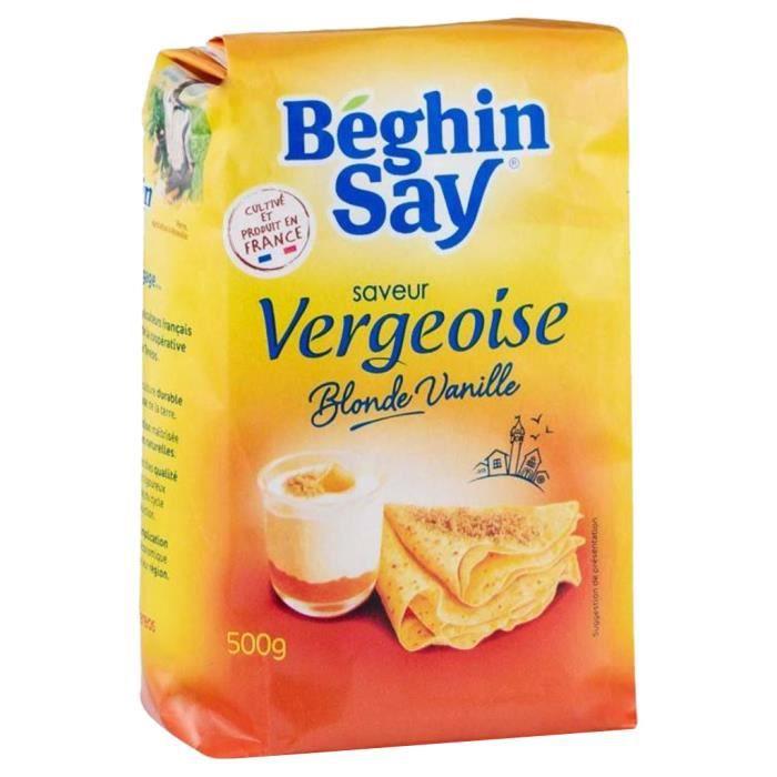 Béghin-Say - Béghin-Say Saveur Vergeoise Blonde Vanille 500g (lot de 3)