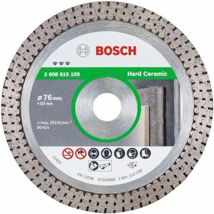 Bosch Disques à tronçonner diamantés Best for Hard Ceramic, 76 x 10 x 1,9 x 10 mm - 2608615109