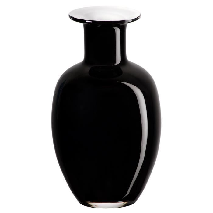 Vase, verre, -AURORA-, noir/blanc, 25 cm
