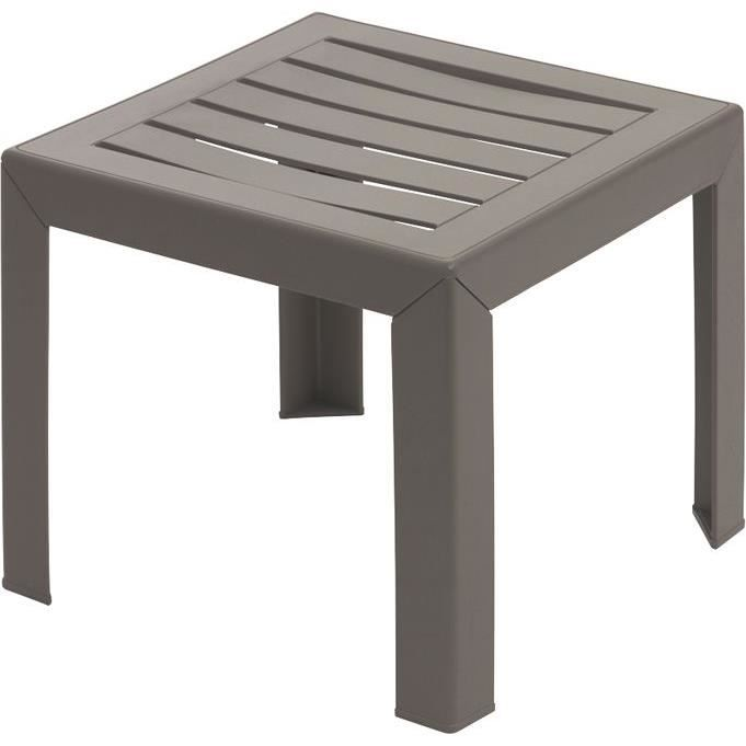 Table basse Miami 40x40cm taupe