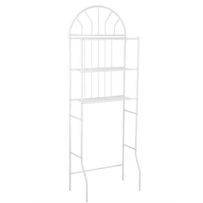 Etagère de Rangement en Métal pour Salle de Bain, 3 Etages Meuble de Rangement pour Toilette Meuble WC Etagère-PAT