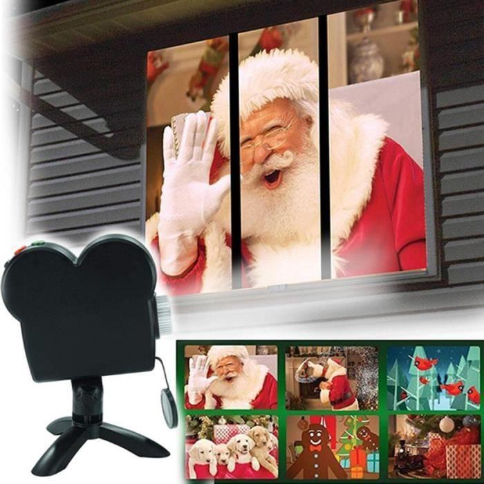 Projecteur de fenêtre Lumières de Noël Décor extérieur