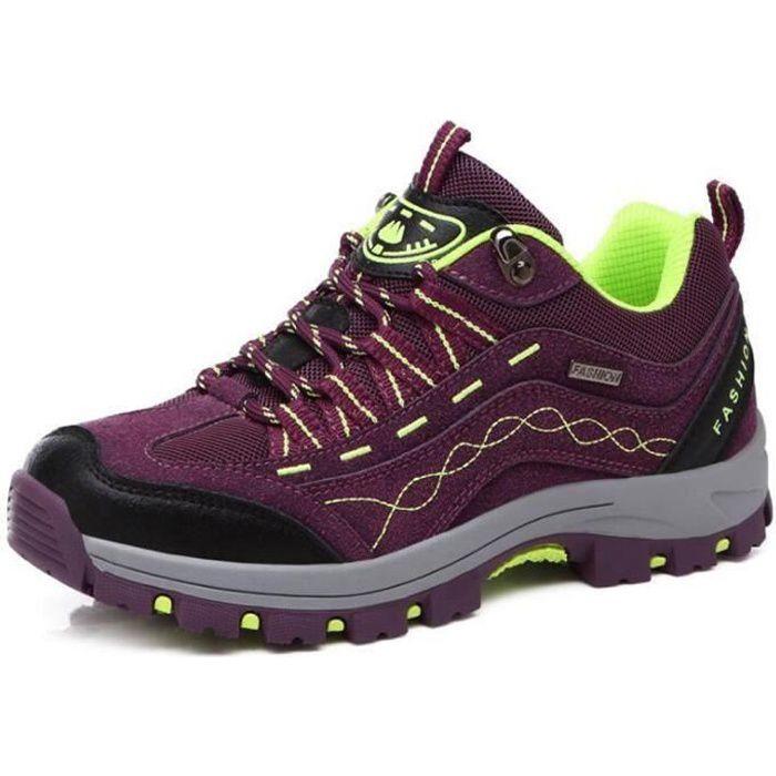 Aventurer Chaussures Randonnée Femme Homme Imperméable Maintien Confort Respirant KIANII® Violet