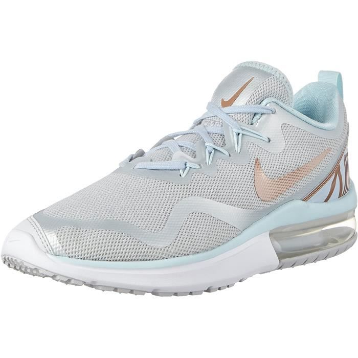 Nike Femmes Femme Air Max Fury Chaussures Course, Multicolore (Pure Platine / Mtlc Rouge Bronze 005), 5 UK