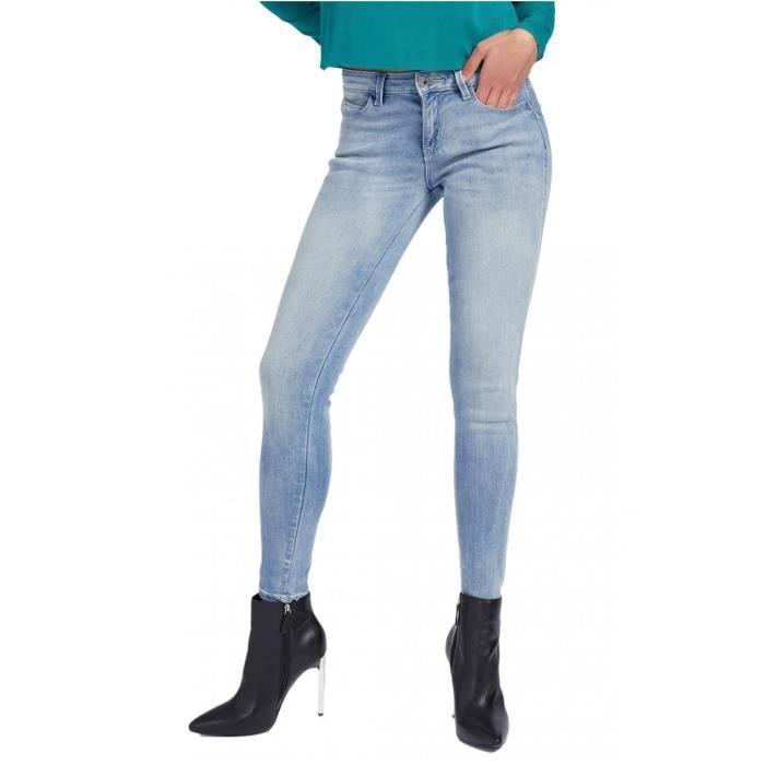 Jean pailleté push up skinny stretch Curve X - Guess jeans - Femme