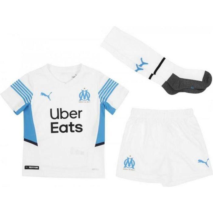Nouveau Mini-Kit Officiel Enfant Puma OM Olympique de Marseille Domicile Saison 2021-2022