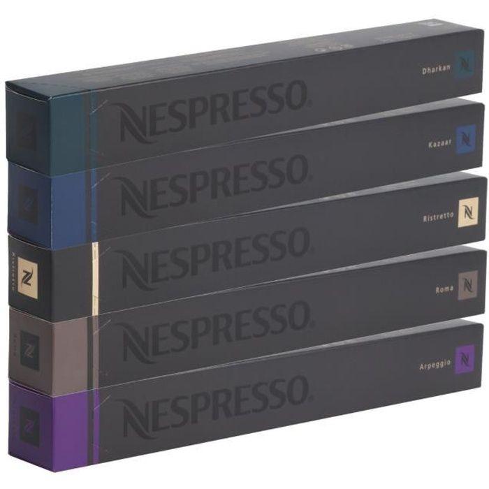Nespresso Lot de Café Varié Fort - 50 Capsules
