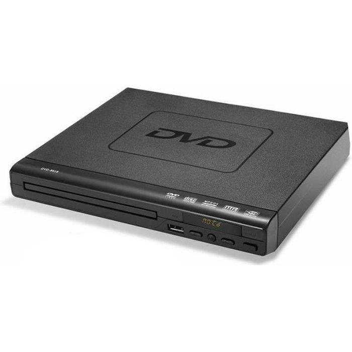 Lecteur Dvd Pour Tv, Dvd / Cd / Mp3 / Mp4 Avec Prise Usb, Sortie Hdmi Et Av - Eu Plug